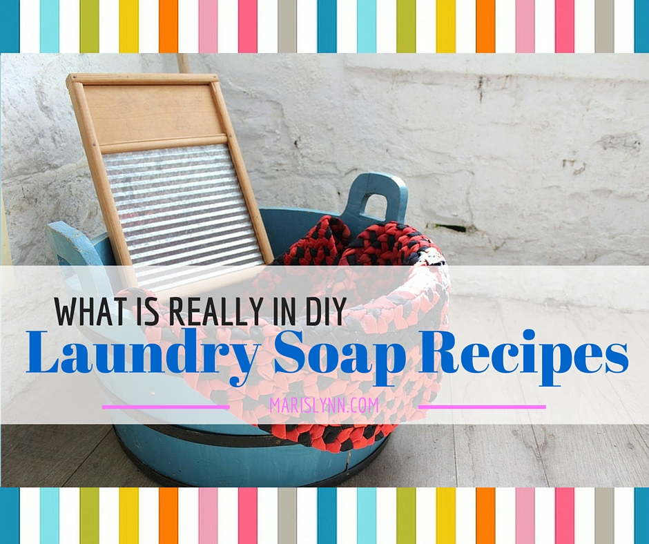 What's in DIY Laundry Soap Recipes