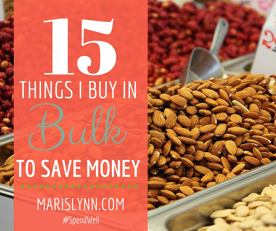 15 Things I Buy in Bulk to Save Money